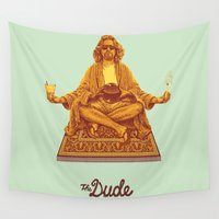 posters Wall Tapestries featuring The Lebowski Series: The Dude by Bubblegun