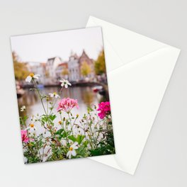 Photo of wildflowers at a botanical garden on the Dutch canals in Leiden, The Netherlands | Fine Art Colorful Travel Photography | Stationery Cards