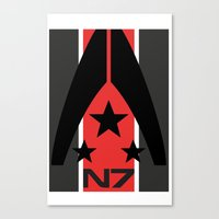 n7 Canvas Prints featuring N7 MASS EFFECT by MDRMDRMDR
