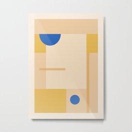 Minimal Geometric Shapes 97 Metal Print