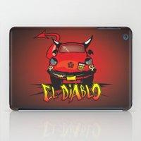 diablo iPad Cases featuring El Diablo/hell car by mangulica