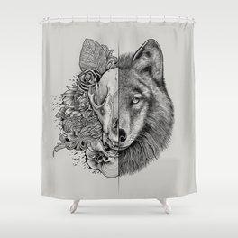 New Wolf (Half Life) Shower Curtain