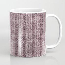 Dusty Pink Jersey Knit Pattern Coffee Mug