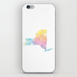 Typographic New York in Springtime iPhone Skin