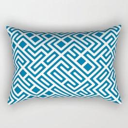10 Print: Bold Blue Rectangular Pillow