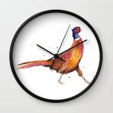 Pheasant, Christmas animals, Christmas, bird art Wall Clock