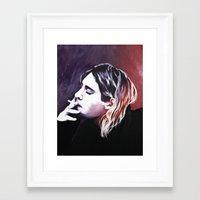 kurt rahn Framed Art Prints featuring Kurt by Katie Rosealea