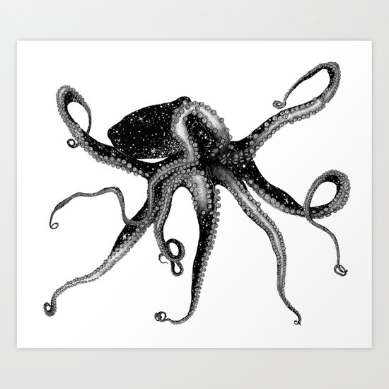 Cosmic Octopus Art Print