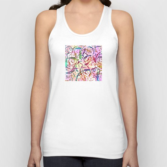 abstract roses silhouettes Unisex Tank Top