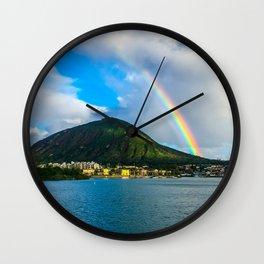 Hawaii Rainbow Mountain Wall Clock