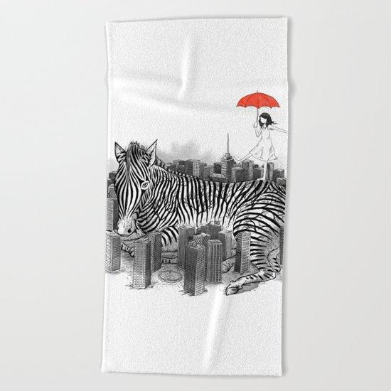 Crossing Zebra Beach Towel