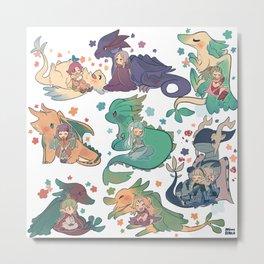 FE - dragons Metal Print