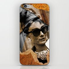 Audrey Hepburn - Ripped Paper Style - iPhone & iPod Skin