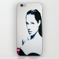 angelina jolie iPhone & iPod Skins featuring Angelina Jolie by VenusArtist