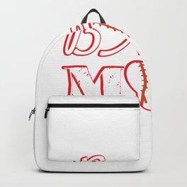 Ball Mom Love Softball Baseball Mother's Day Gifts Backpack