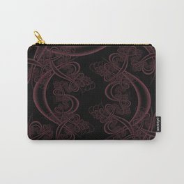 Tawny Port on Black Fractal Carry-All Pouch