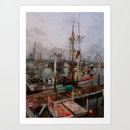 Fresh Live Crab! Art Print