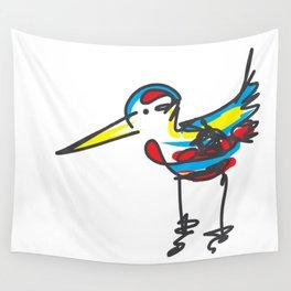 Bird sketch Wall Tapestry