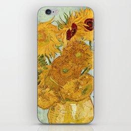 Van Gogh - sunflowers iPhone Skin