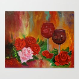 Wine for Two Canvas Print