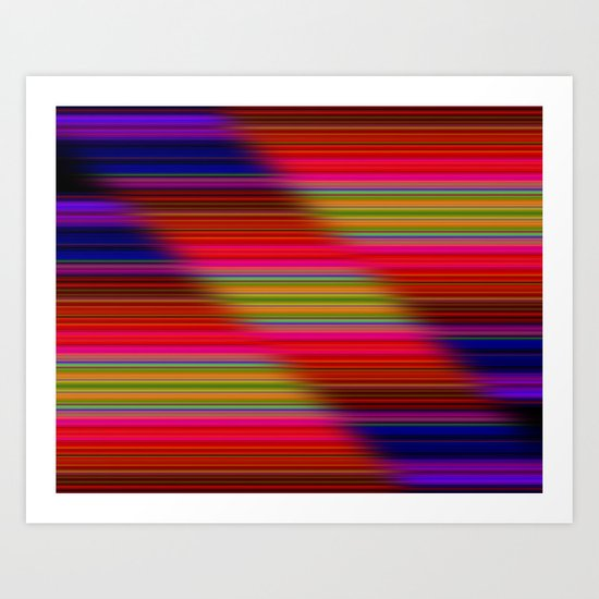 Staggered Colours Art Print