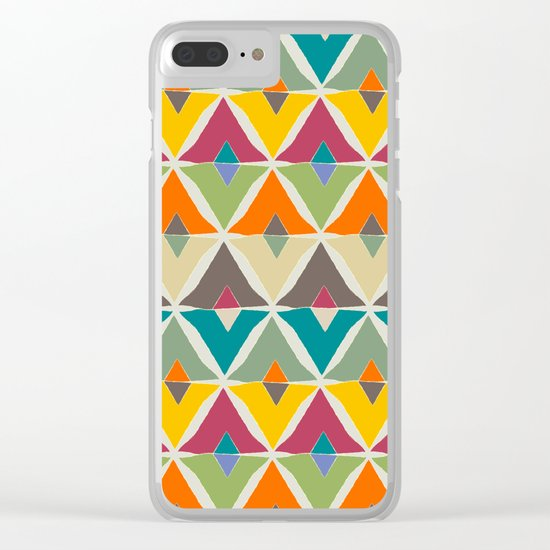 My diamonds shapes Clear iPhone Case