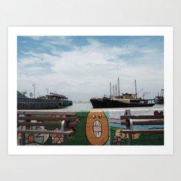 Fishing boats. Art Print