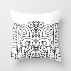 Threshold Guardian Throw Pillow