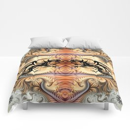 Dragon Spirals with tribal tattoo dragons Comforters