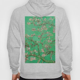 Almond Blossoms Green Hoody