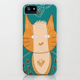 cat buddha doodle iPhone Case