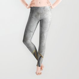 Concrete Arrow Blue Marble #177 Leggings