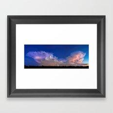 Sunday South Sky Monsoon Panorama Framed Art Print