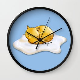 Sunny-side Up Cat Wall Clock