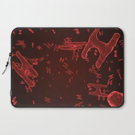Abstract red virus cells Laptop Sleeve