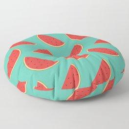 Delicious Summertime Watermelon Slices Floor Pillow