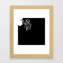 Contractor White Framed Art Print