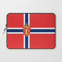 Flag of Norway Scandinavian Cross and Coat of Arms Laptop Sleeve
