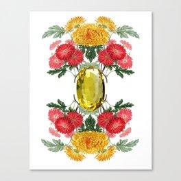 Birth Stone & Flower Print/NOVEMBER Canvas Print