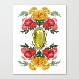 Birth Stone & Flower Print/NOVEMBER Canvas Print
