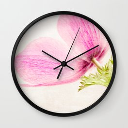 Linen In Pink Wall Clock