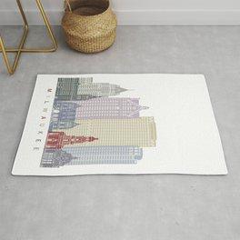 Milwaukee skyline poster Rug