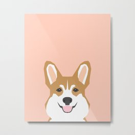 Shelby - Welsh Corgi gifts with corgi illustration for dog people and corgi owner gifts dog gifts Metal Print
