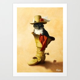 Little Puss in Boots Art Print