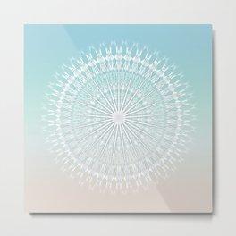 Beach Style Mandala Metal Print