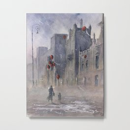 The dream seller and old factory Metal Print