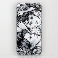 tegan and sara iPhone & iPod Skins featuring Tegan & Sara by JenHoney