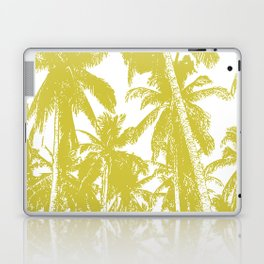 Palm Trees Design in Gold and White Laptop & iPad Skin