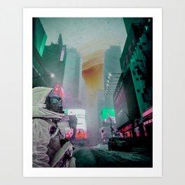 Neon Dreams Art Print