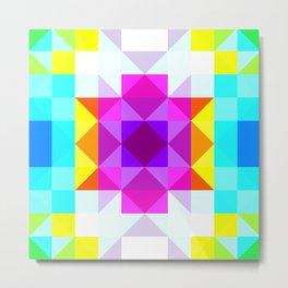 colorful geometric retro pattern Panotti Metal Print